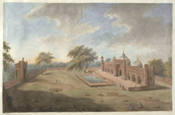 Aurangzab's red sandstone mosque on the birthplace of Krishna